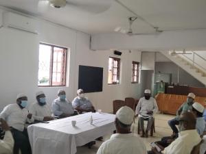 கொழும்பு மாவட்ட மஸ்ஜித் சம்மேளனங்களின் தலைவர்களுடனான விஷேட ஒன்று கூடல்