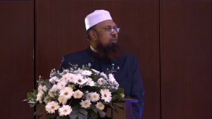 Ash Shaikh Mufthi M.I.M Rizwe at the Launch of the Sinhala Exegesis of the Holy Quran